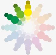 Barvy a jejich kombinace, analogická paleta
